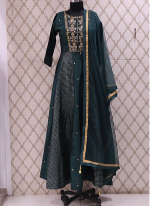 Graceful Green Color Function Wear Designer Suit