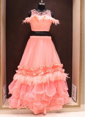 Graceful Pink Color Wedding Wear Fancy Lehenga Choli