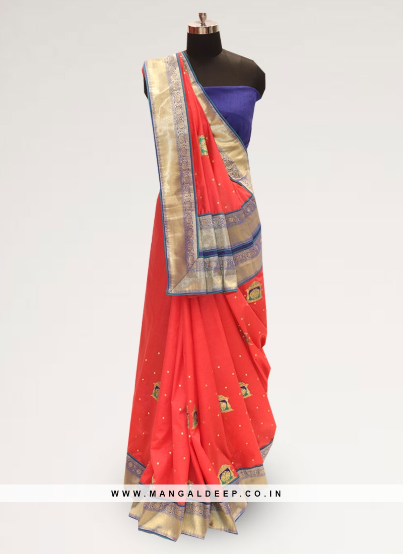 Graceful Red Color Function Wear Silk Saree