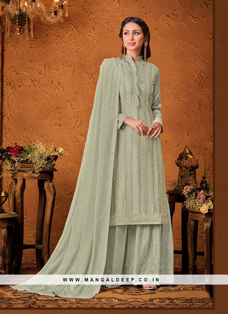 Green Color Chinon New Design Suit
