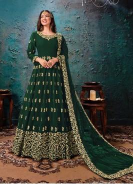 Green Color Georgette Anarkali Suit