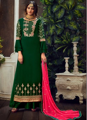 Green Color Georgette Pakistani Suit
