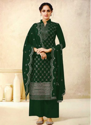 Green Color Georgette Plazzo Suits