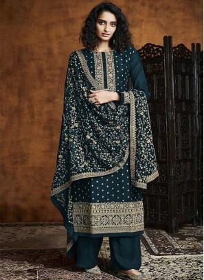 Green Color Georgette Salwar Suits