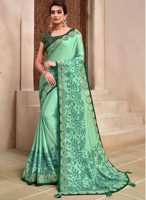 Green Color New Style Saree