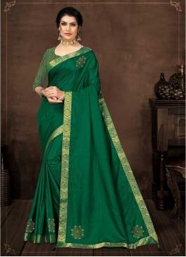 Green Color Silk Gorgeous Saree