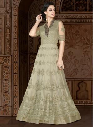 Green designer Floor length anarkali Suit