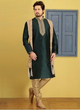 Green Kurta Pajama For Sangeet Function