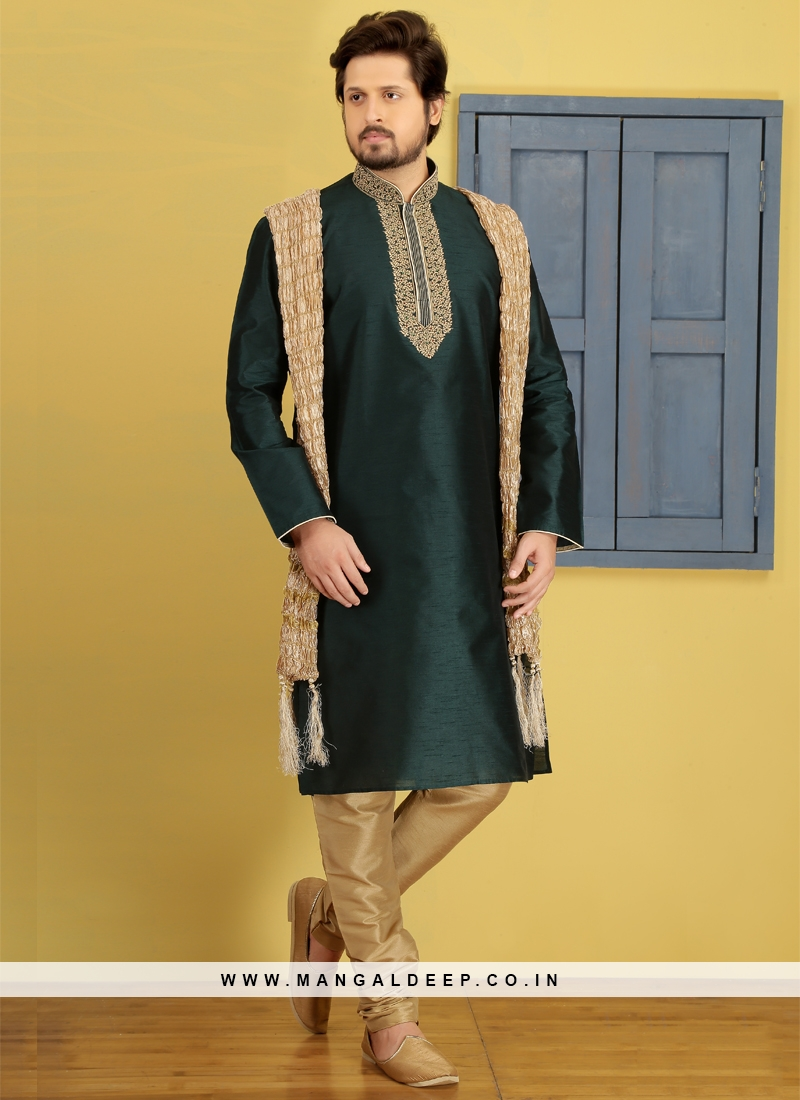 Green Kurta Pajama For Sangeet Function