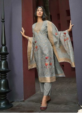 Grey Color Women Salwar Kameez