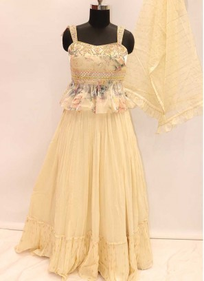 Innovative Lehenga Choli For Wedding In Cream Georgette