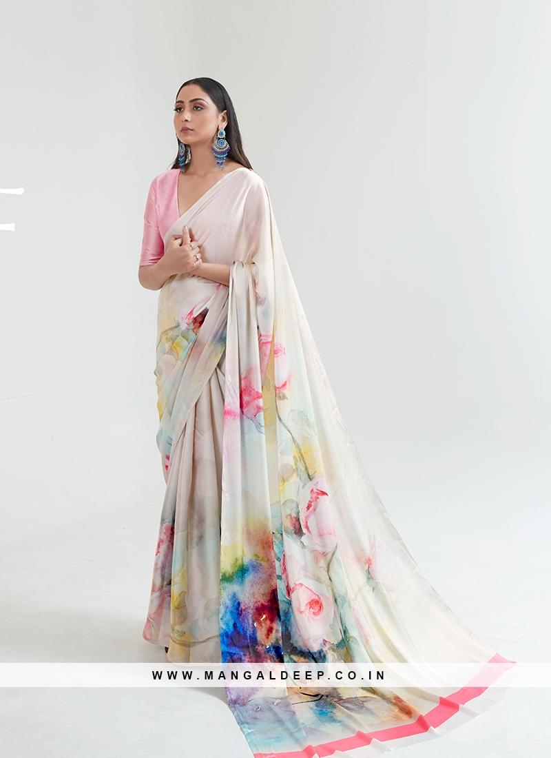 Latest Design Multi Color Saree