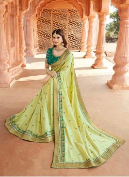 Light Green Color Silk New Saree