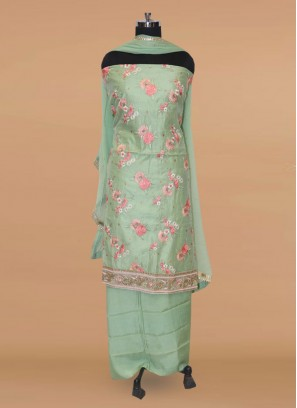 Lovely Green Color Function Wear Salwar Kameez