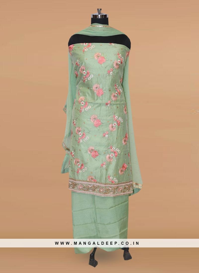 Lovely Green Color Function Wear Salwar Kameez