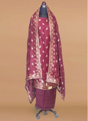 Lovely Maroon Color Function Wear Salwar Kameez