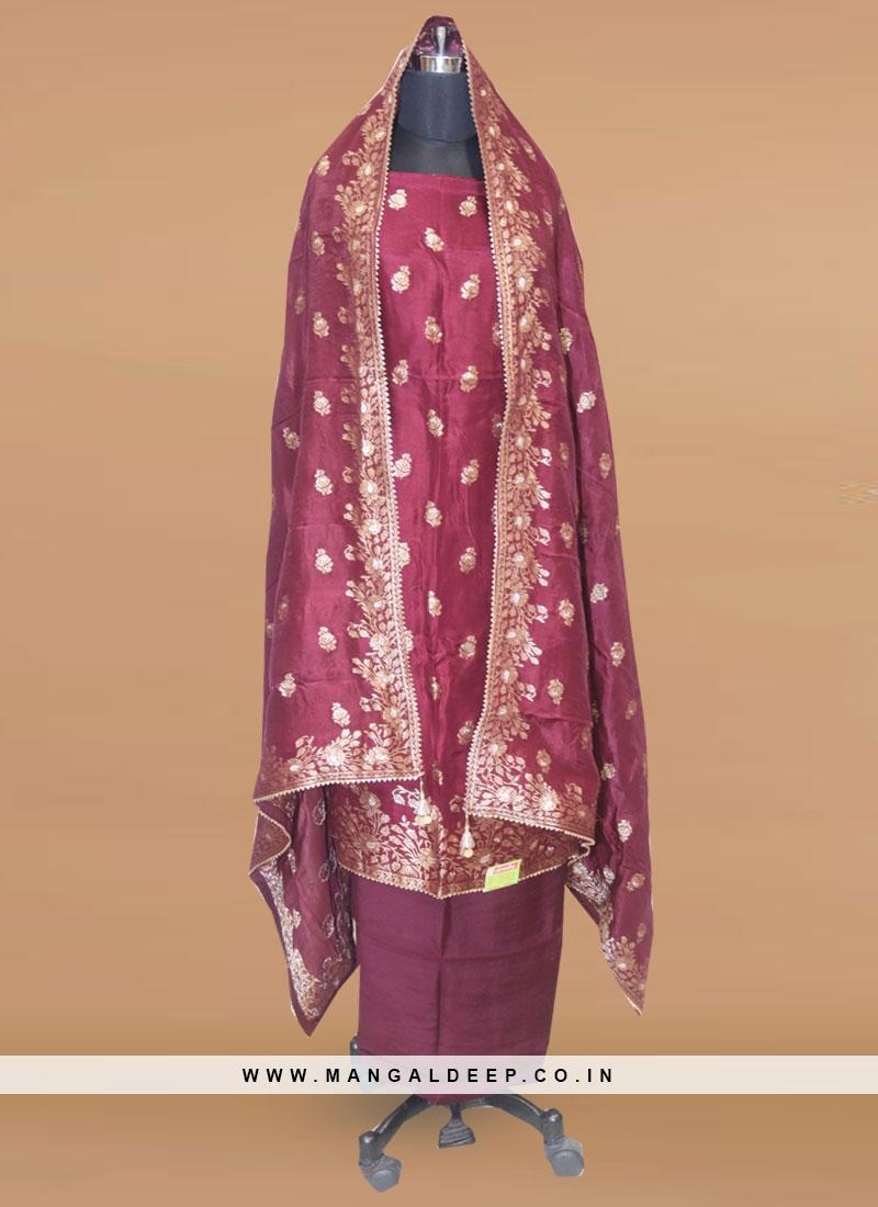 Lovely Maroon Color Function Wear Salwar Kameez