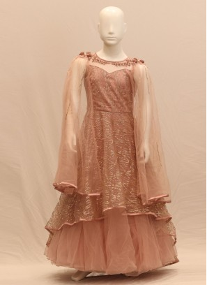 Lovely Pink Color Function Wear Gown