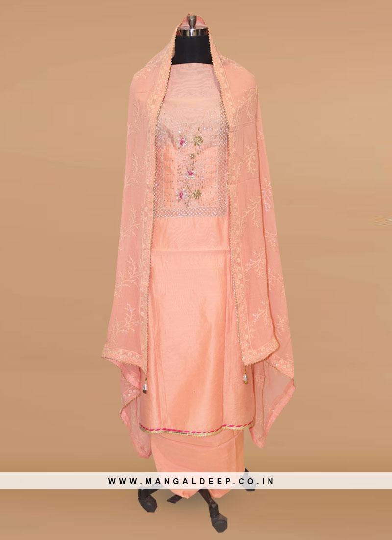 Lovely Pink Color Function Wear Salwar Kameez