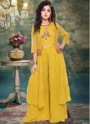 Lovely Yellow Color Designer Dress For Kids