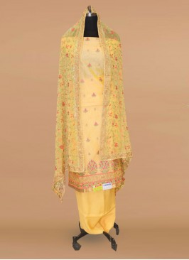Lovely Yellow Color Function Wear Salwar Kameez