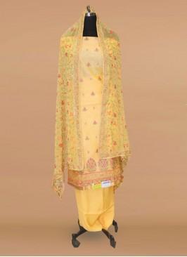 Lovely Yellow Color Function Wear Salwar Kameez