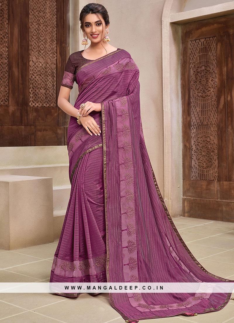Magenta Color New Pattern Saree