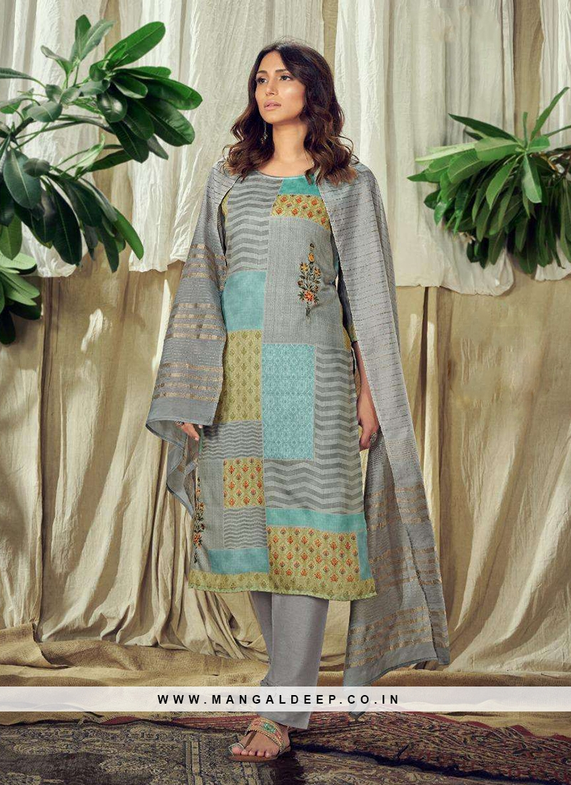 Magnificent Multi Color Readymade Salwar Kameez