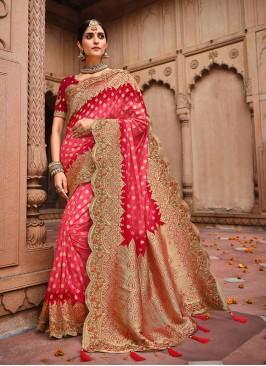 Maroon Color Dolla Silk Wedding Saree