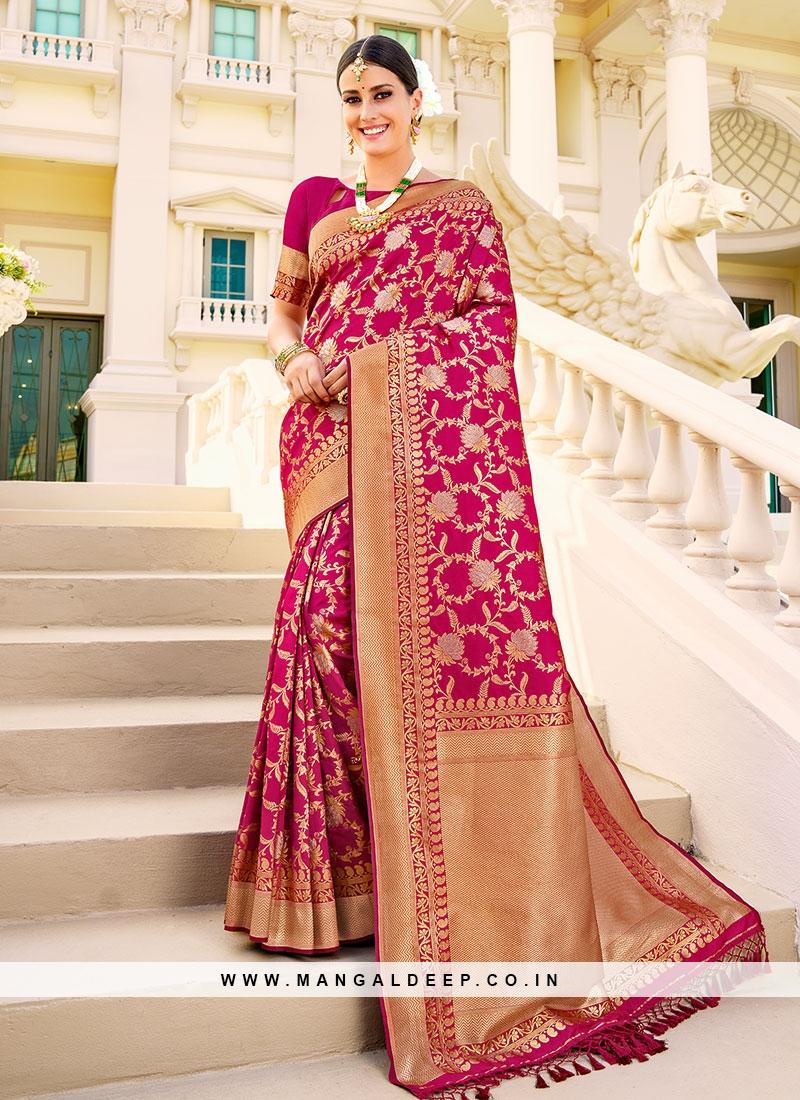 Maroon Color Silk Sarees Online