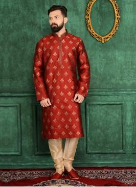 Maroon Colour Kurta Pajama