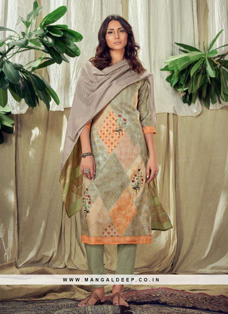 Marvelouse Multi Color Readymade Dress
