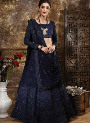 Mesmerizing Blue Color Designer Lehenga Choli