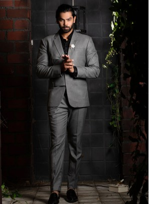 Modern Swatch Grey Suit Set