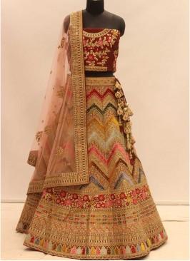 Multi Color Heavy Work Bridal Lehenga
