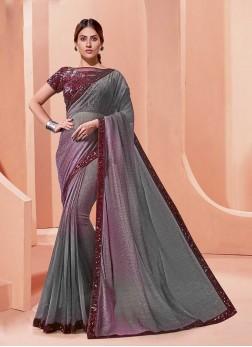 Multi Color Lace Border Saree