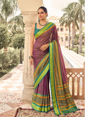 Multi Color Patola Bold Saree