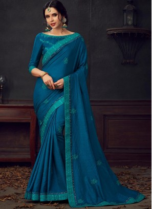 Multi Color Poly Silk Saree With Unstitched Blouse