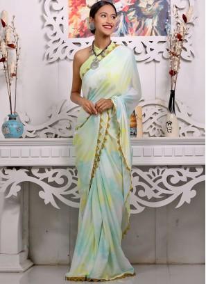 Multi Color Satin Fancy Saree