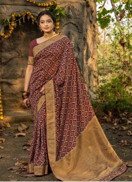 Multi Color Silk Saree For Festive