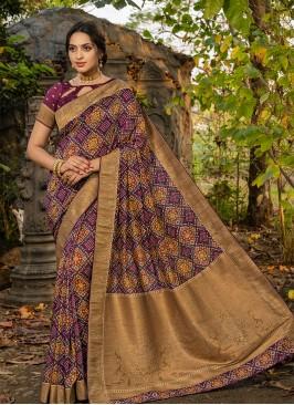 Multi Color Silk Saree For Function