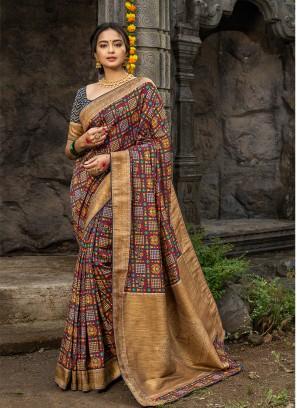 Multi Color Silk Saree For Ladies