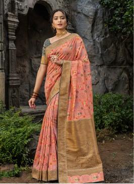 Multi Color Silk Saree For Woman