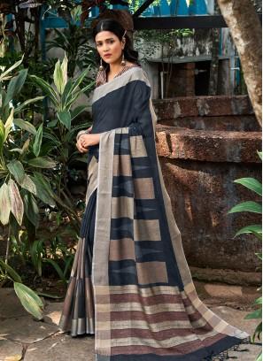 Multi Color Silk Stylish Saree