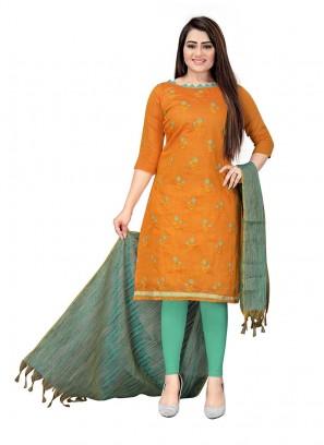 Mustard Color Cottom Dress