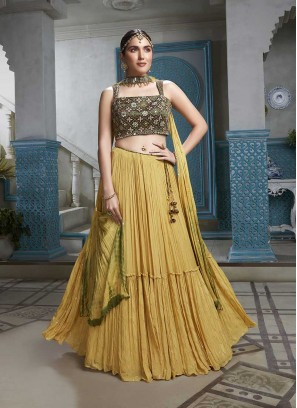 Mustard Color Designer Lehenga Choli