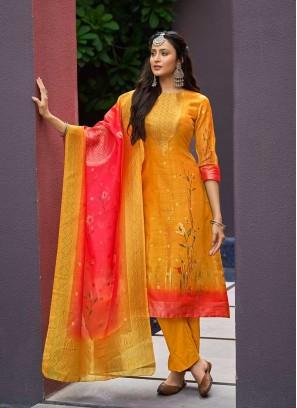 Mustard Color Girls Wear Salwar Kameez