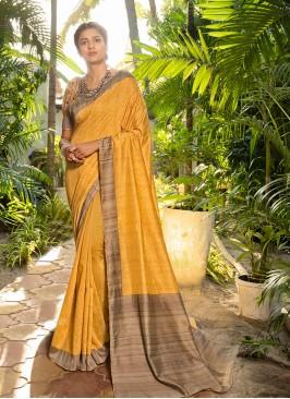 Mustard Color Silk Adorable Saree