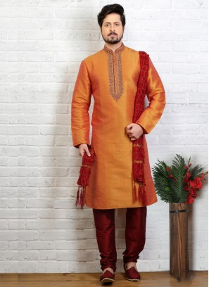 Mustard Kurta Pajama For Sangeet Function