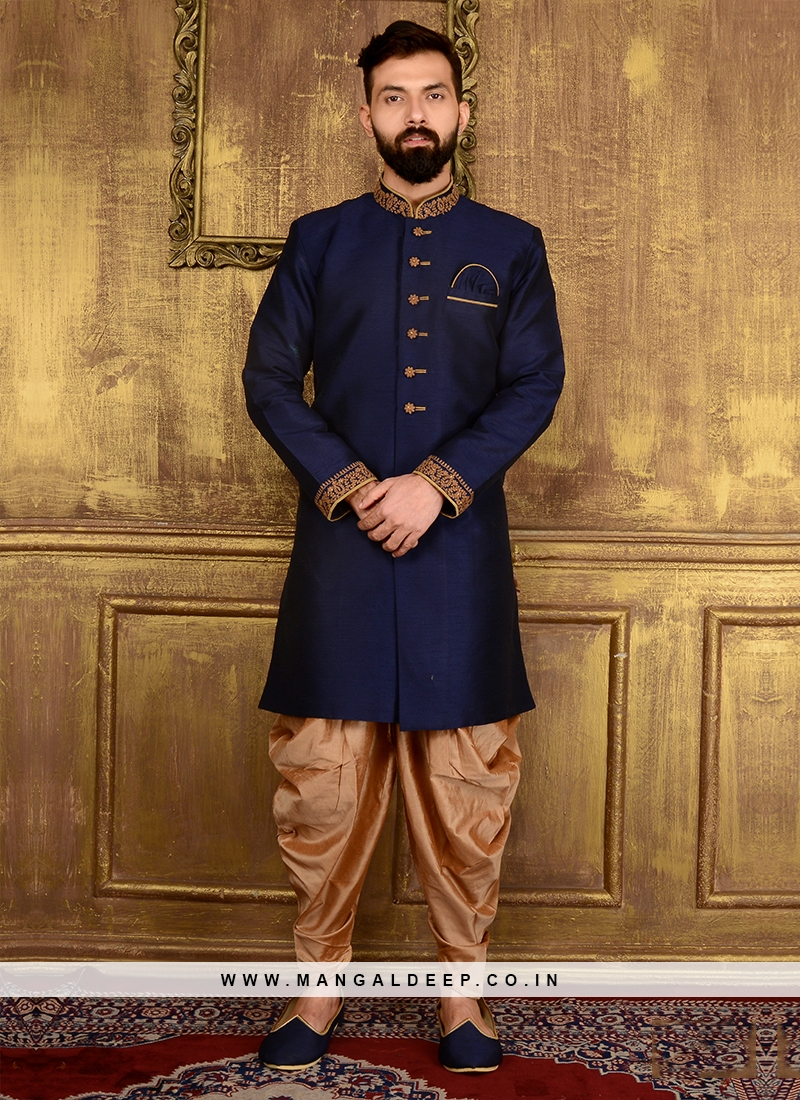 Navy Blue Men's Panjabi Suit